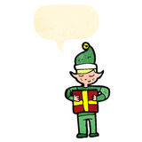 Cartoon male christmas elf Stock Image