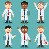Cartoon Male Doctor Characters Set Royalty Free Stock Photo