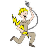 Cartoon Male Electrician Stock Image
