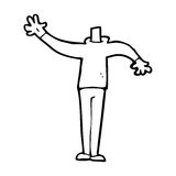 Cartoon male gesturing body (mix and match cartoons or add own photo) Stock Images