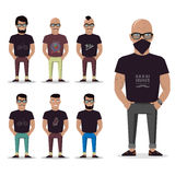 Cartoon male for graphic design, Web site, social media, user interface, mobile app. Man set isolated. Man set isolated. Cartoon male for graphic design, Web Royalty Free Stock Images