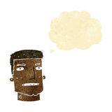 Cartoon male head with thought bubble Royalty Free Stock Photo
