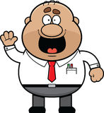 Cartoon Male Office Worker Happy Stock Image