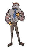 Cartoon male robot Stock Photo