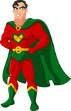 Cartoon male superhero posing Stock Images