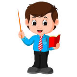 Cartoon male teacher Royalty Free Stock Images