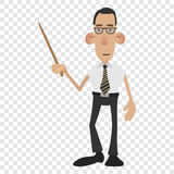 Cartoon male teacher Stock Images