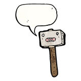 Cartoon mallet Royalty Free Stock Images