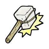 Cartoon mallet hitting Stock Images