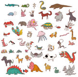 Cartoon Mammal and beast animals set vector Stock Images