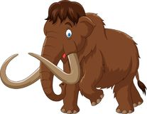 Cartoon mammoth isolated on white background Stock Photo