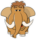 Cartoon mammoth on white background Royalty Free Stock Photo
