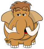 Cartoon mammoth on white background Stock Photo