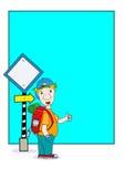 Cartoon man. Cartoon Orange on white background Royalty Free Stock Images