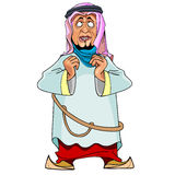 Cartoon man in Arab clothing Royalty Free Stock Photos