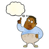 Cartoon man asking question with thought bubble Royalty Free Stock Photography