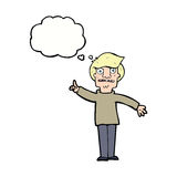 Cartoon man asking question with thought bubble Royalty Free Stock Photo