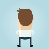 Cartoon man backside vector illustration