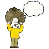 cartoon man with big hair Royalty Free Stock Image