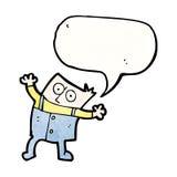 Cartoon man in big trousers Stock Photos