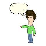 Cartoon man blaming with speech bubble Stock Photo