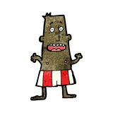 Cartoon man in boxer shorts Royalty Free Stock Photo