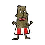 Cartoon man in boxer shorts Royalty Free Stock Photo