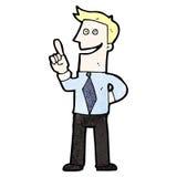 Cartoon man with brilliant idea Stock Photo