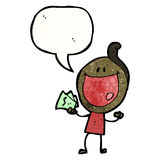 Cartoon man with cash Royalty Free Stock Photos