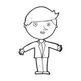 Cartoon man in casual jacket Royalty Free Stock Images