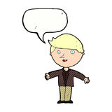 cartoon man in casual jacket with speech bubble Stock Photography