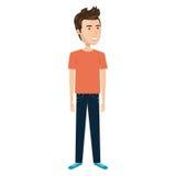 Cartoon man in casual suit. Vector illustration Stock Photos