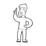 Cartoon man with complaint Stock Photography