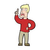 Cartoon man with complaint Royalty Free Stock Photography