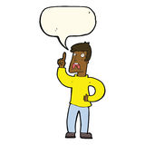 Cartoon man with complaint with speech bubble Royalty Free Stock Photography