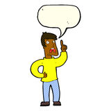 Cartoon man with complaint with speech bubble Royalty Free Stock Photo