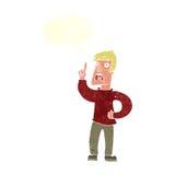 Cartoon man with complaint with speech bubble Stock Photos