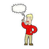 Cartoon man with complaint with speech bubble Stock Image