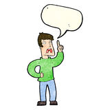 Cartoon man with complaint with speech bubble Royalty Free Stock Image