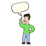 Cartoon man with complaint with speech bubble Stock Photo