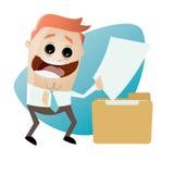 Cartoon man with document and folder. Cartoon illustration of a man with document and folder Royalty Free Stock Photos