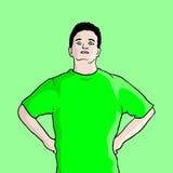 Cartoon man draw Stock Photo