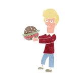 Cartoon Burger Man Stock Vector Image Of Clipart Arms