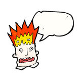Cartoon man with exploding head Stock Image