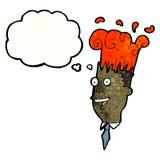 Cartoon man with exploding head Royalty Free Stock Photography