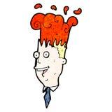 Cartoon man with exploding head Royalty Free Stock Photo