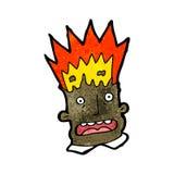 Cartoon man with exploding head Stock Photo