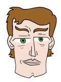 Cartoon man face Royalty Free Stock Image