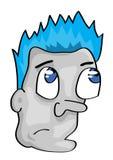Cartoon man face Royalty Free Stock Photo