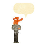 Cartoon man with fox head with speech bubble Stock Photos